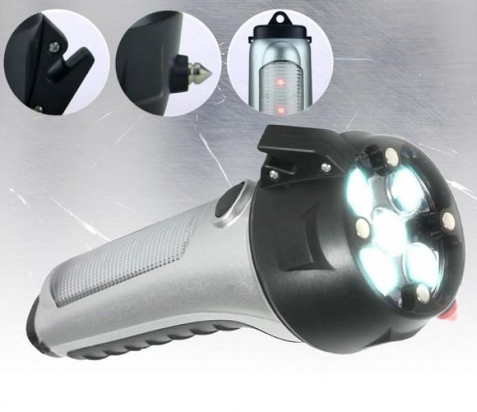 multifunktional notfall taschenlampe einbruchschutz zuhause auto pfefferspray. Black Bedroom Furniture Sets. Home Design Ideas